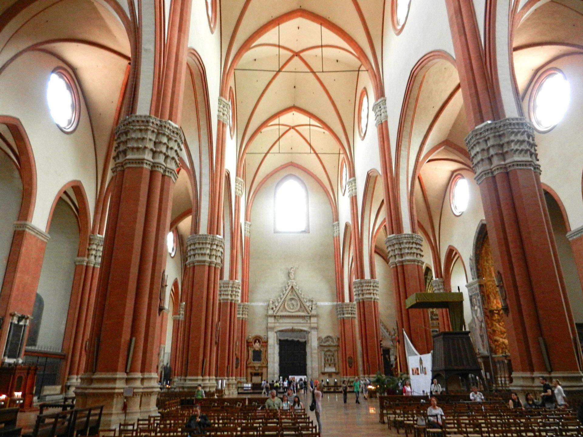 Basilica Di San Petronio Interior Bologna Italy The