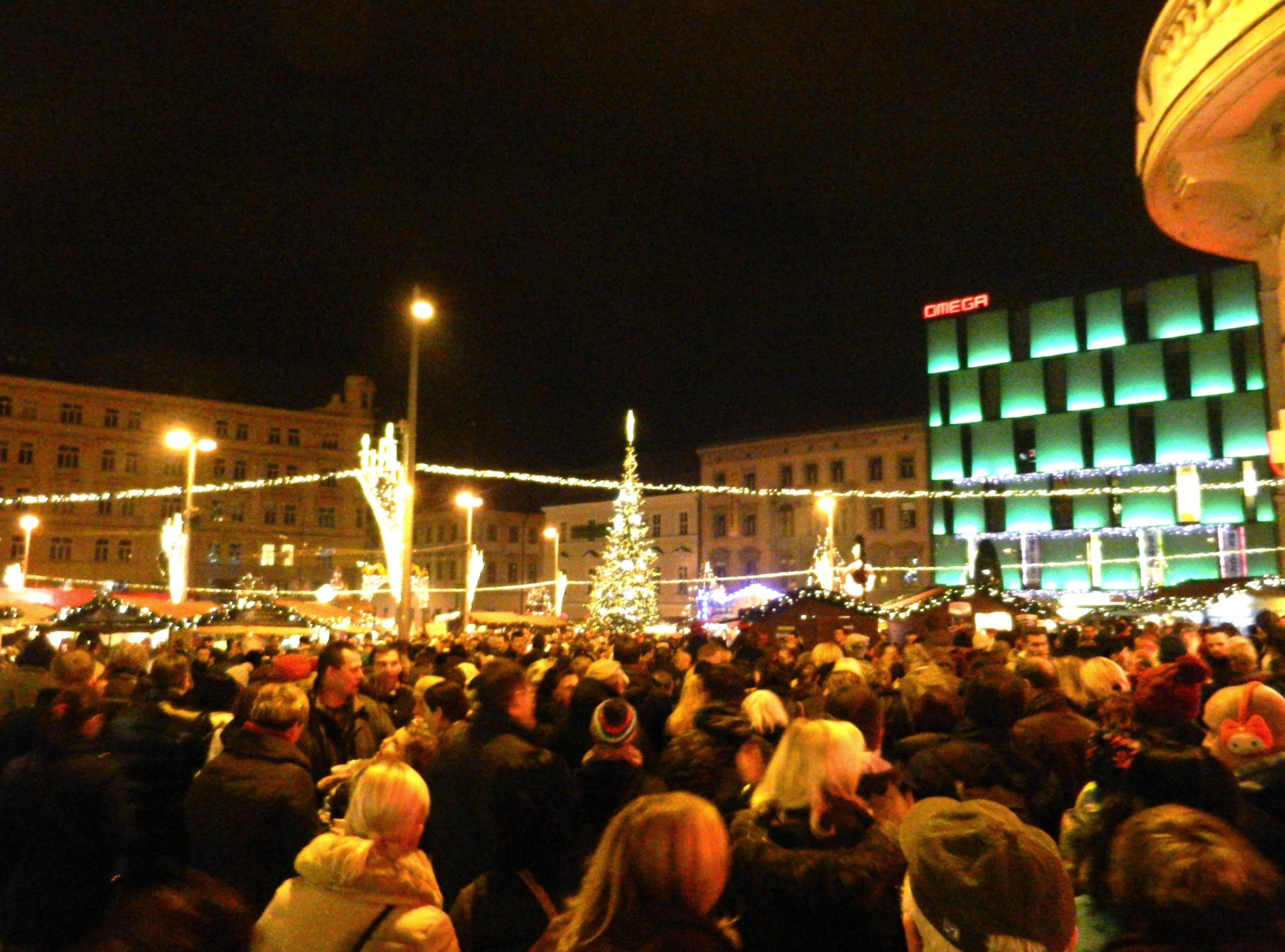 Christmas Market, Freedom Square, Brno, Czech - The Incredibly Long Journey