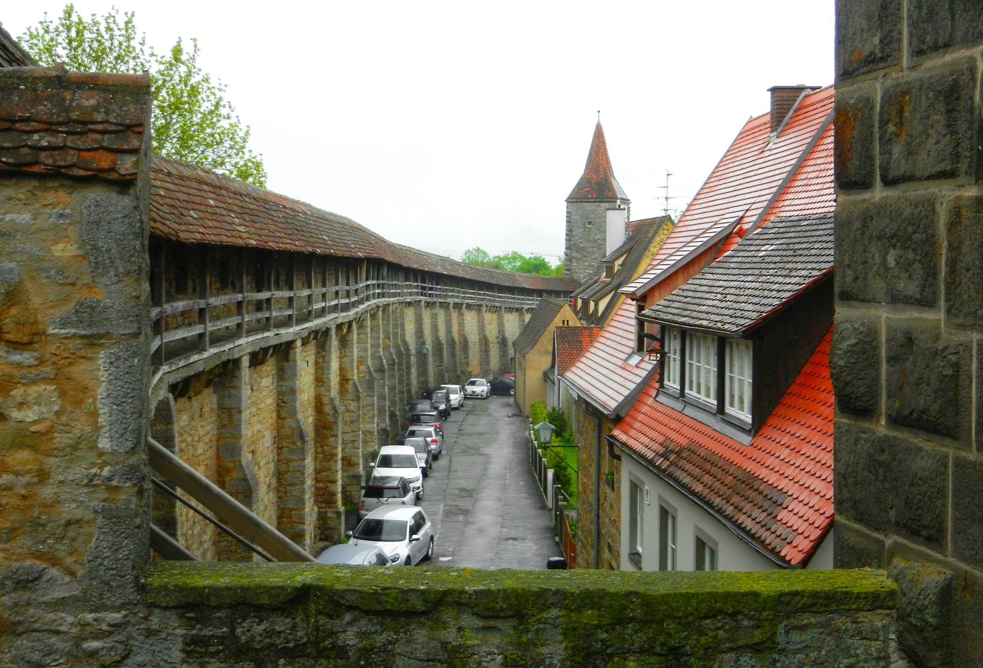 Town Wall Rothenburg Germany The Incredibly Long Journey