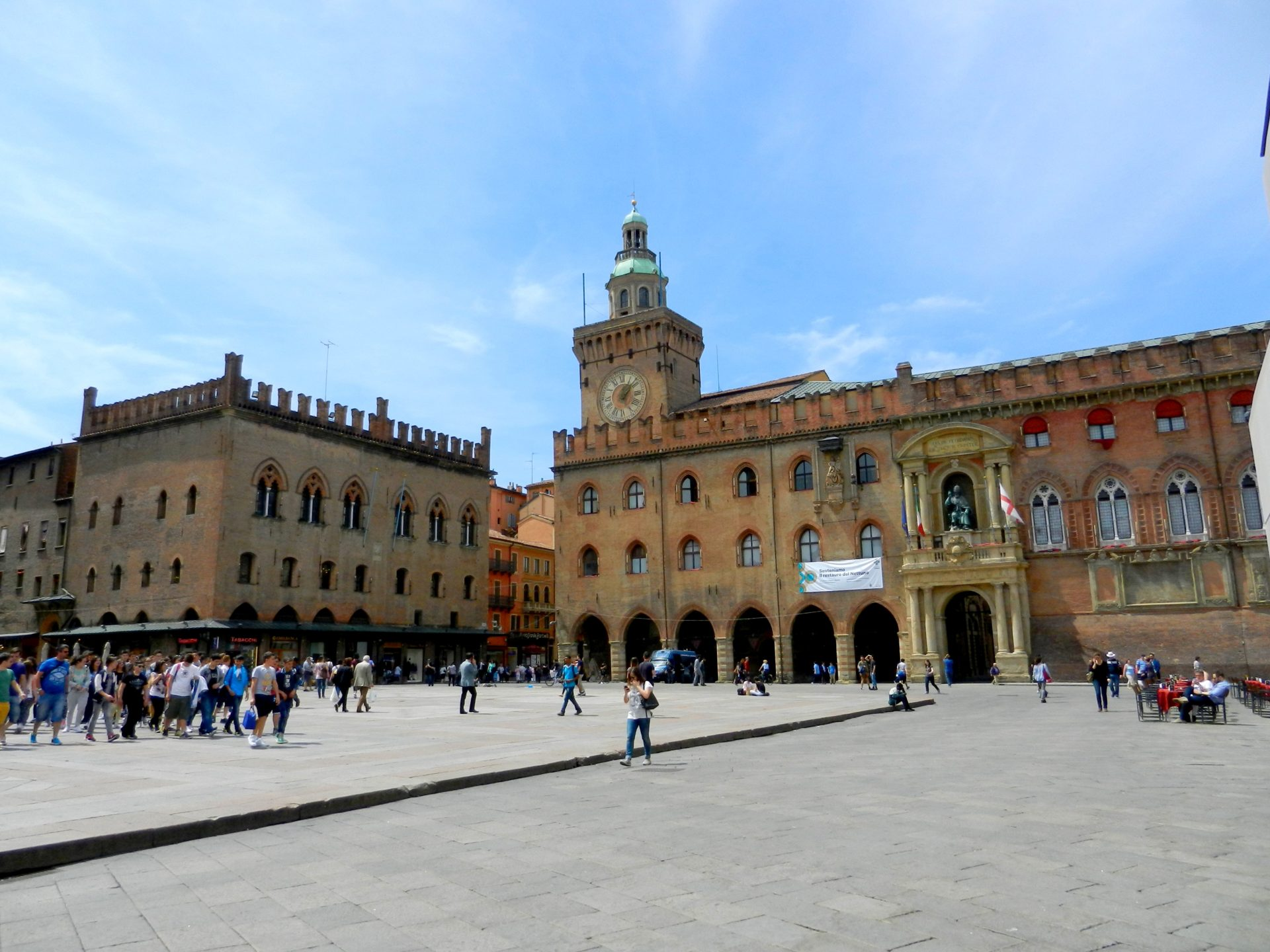 Piazza Maggiore Bologna Italy The Incredibly Long Journey