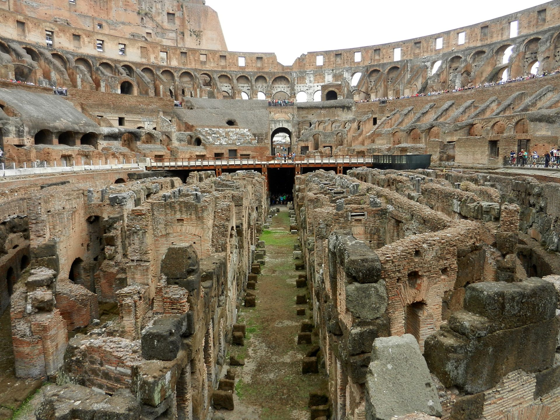 The Hypogeum Colosseum Rome Italy The Incredibly Long